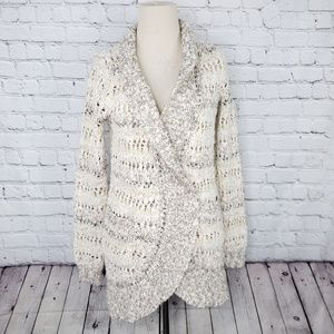 Anthropologie Knitted & Knotted open front cardi